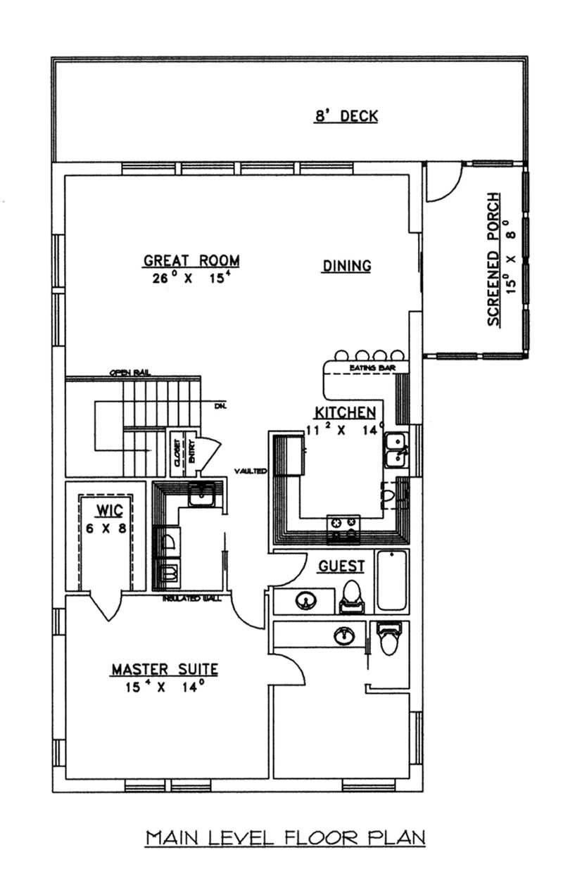 concrete block icf vacation home with 3 bdrms 2059 sq ft house plan 132 1485