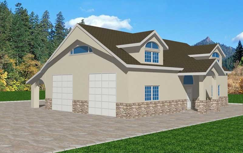 Garage, Concrete Block/ ICF Design House Plans