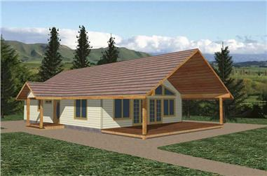 2-Bedroom, 1120 Sq Ft Ranch Home Plan - 132-1489 - Main Exterior