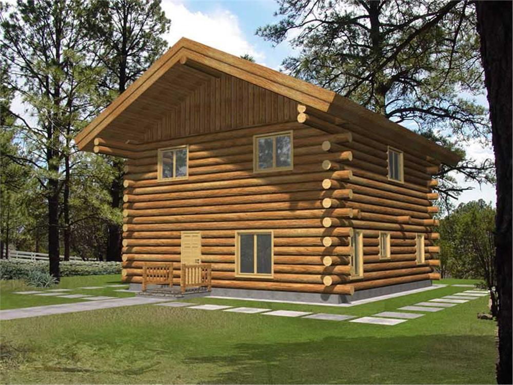 Log Homeplans Front Elevation