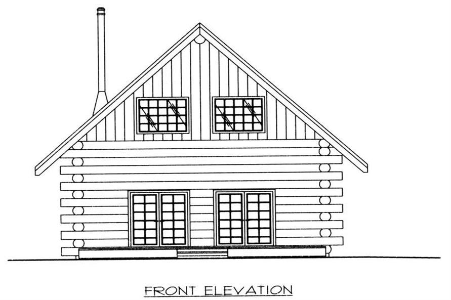 Home Plan Front Elevation of this 1-Bedroom,1469 Sq Ft Plan -132-1492