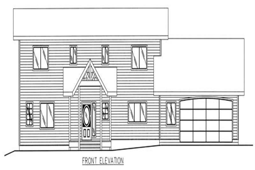 Home Plan Rear Elevation of this 3-Bedroom,2288 Sq Ft Plan -132-1493