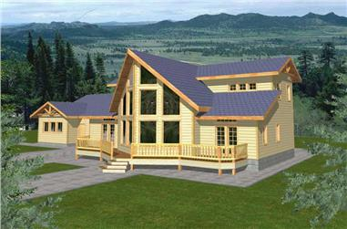 3-Bedroom, 2288 Sq Ft Vacation Homes House Plan - 132-1493 - Front Exterior