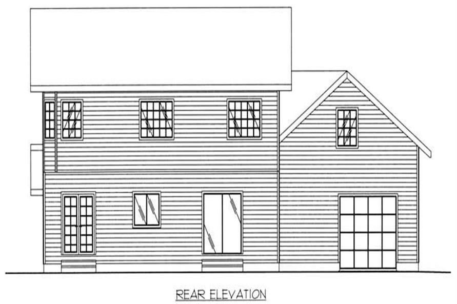Home Plan Rear Elevation of this 4-Bedroom,2059 Sq Ft Plan -132-1494
