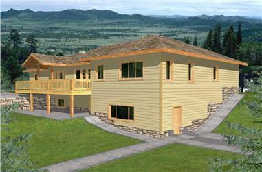 4-Bedroom, 3580 Sq Ft Ranch Home Plan - 132-1495 - Main Exterior