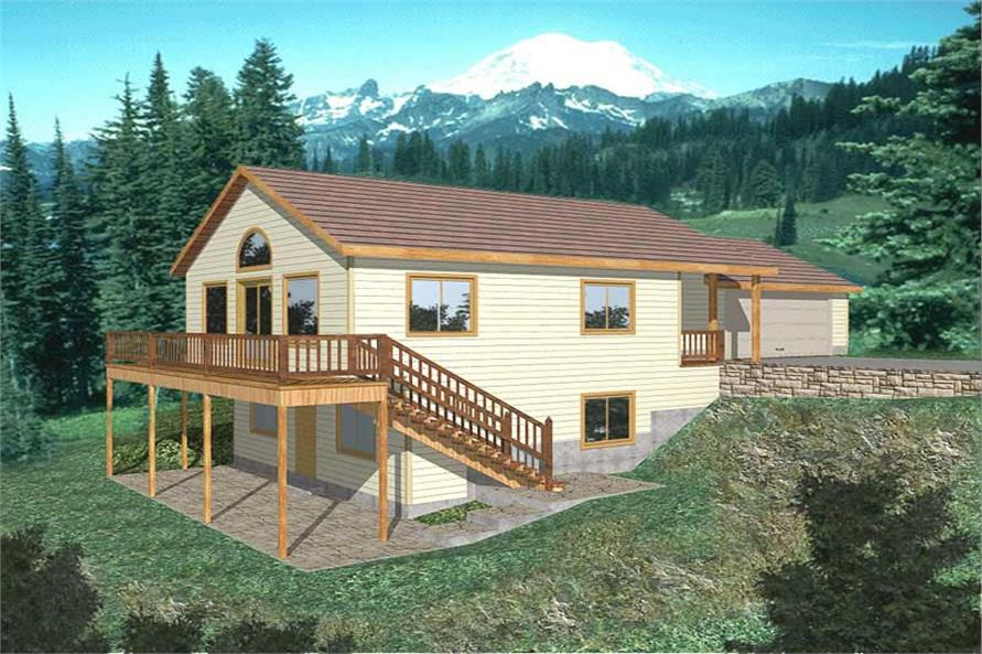 3-Bedroom, 1899 Sq Ft Country Home Plan - 132-1496 - Main Exterior