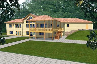 5-Bedroom, 2709 Sq Ft Ranch Home Plan - 132-1497 - Main Exterior