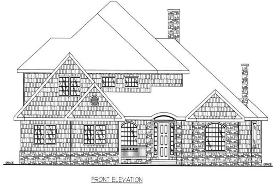 Home Plan Front Elevation of this 3-Bedroom,4212 Sq Ft Plan -132-1498