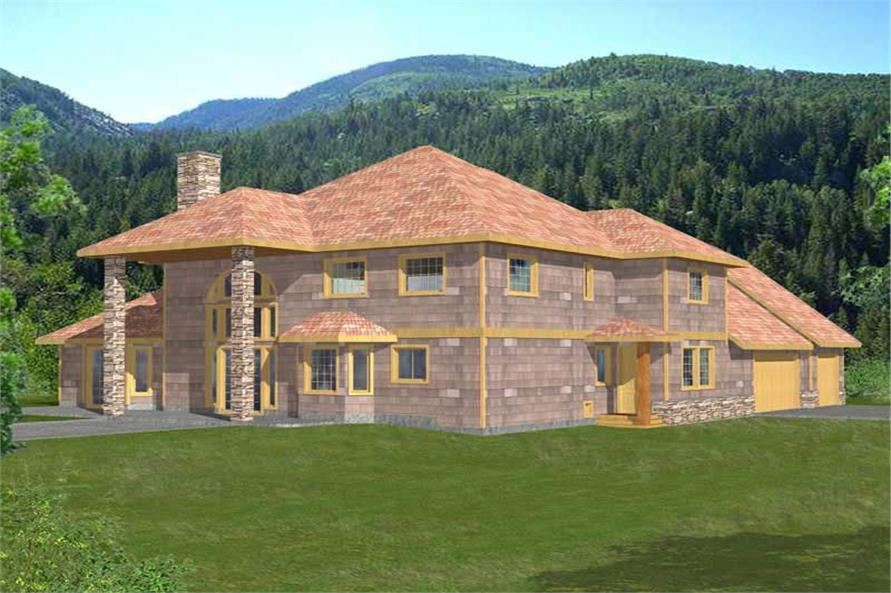 3-Bedroom, 4212 Sq Ft Concrete Block/ ICF Design Home Plan - 132-1498 - Main Exterior