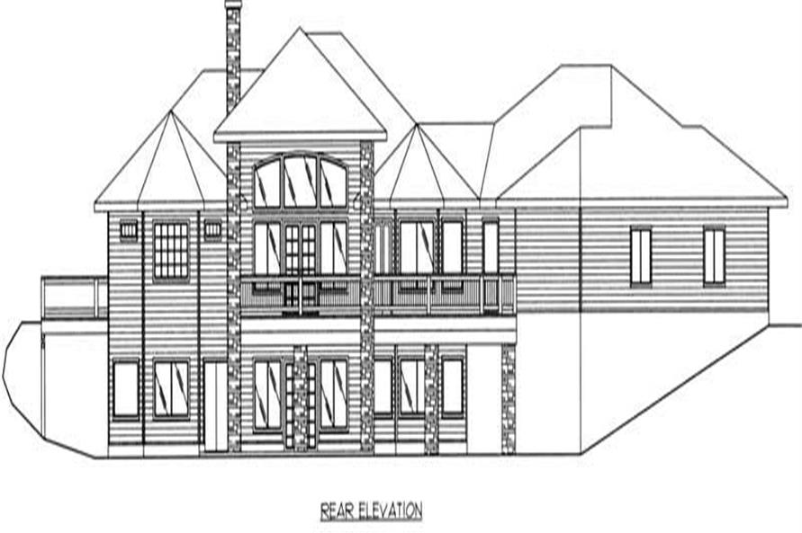 Home Plan Rear Elevation of this 3-Bedroom,2061 Sq Ft Plan -132-1499