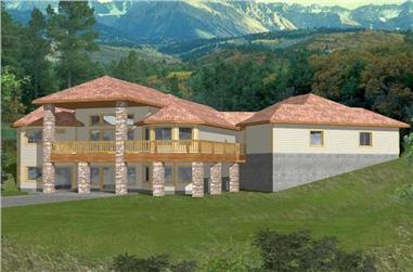 3-Bedroom, 2061 Sq Ft Concrete Block/ ICF Design House Plan - 132-1499 - Front Exterior