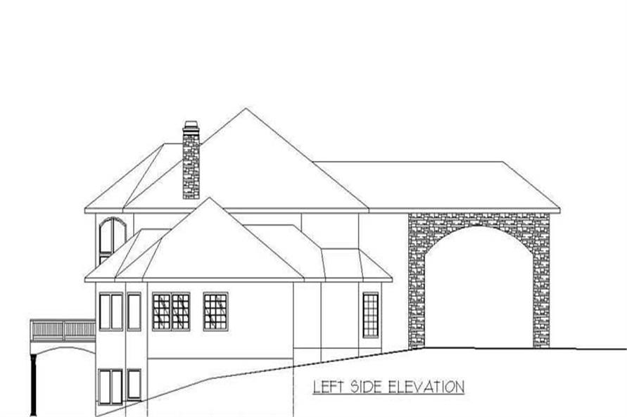 SIDE ELEVATION of this 6-Bedroom,8203 Sq Ft Plan -8203