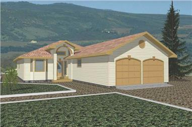 2-Bedroom, 1607 Sq Ft Vacation Homes House Plan - 132-1506 - Front Exterior