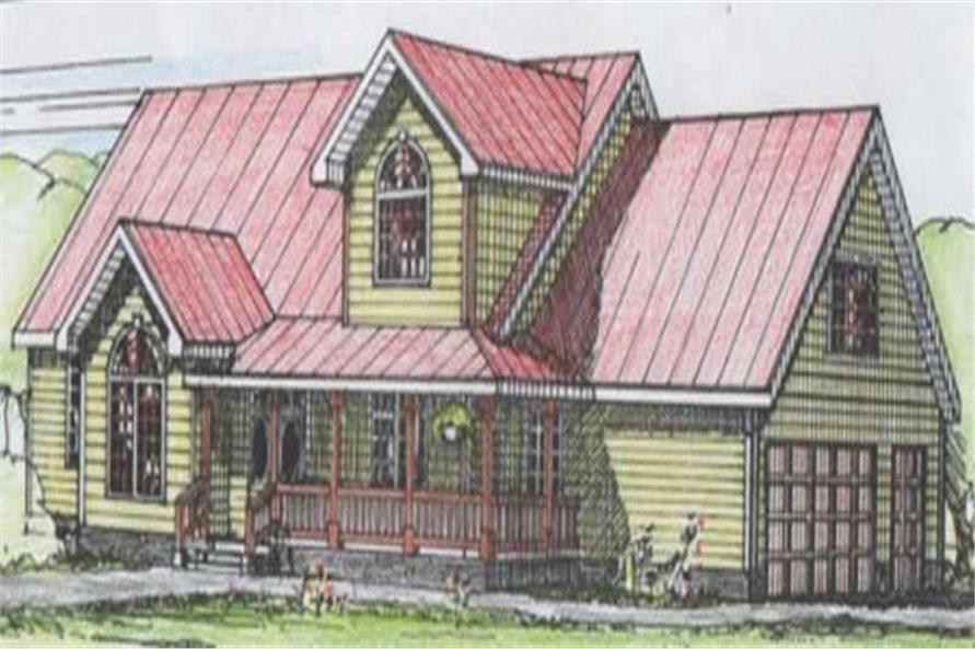 3-Bedroom, 2981 Sq Ft Country House Plan - 132-1508 - Front Exterior