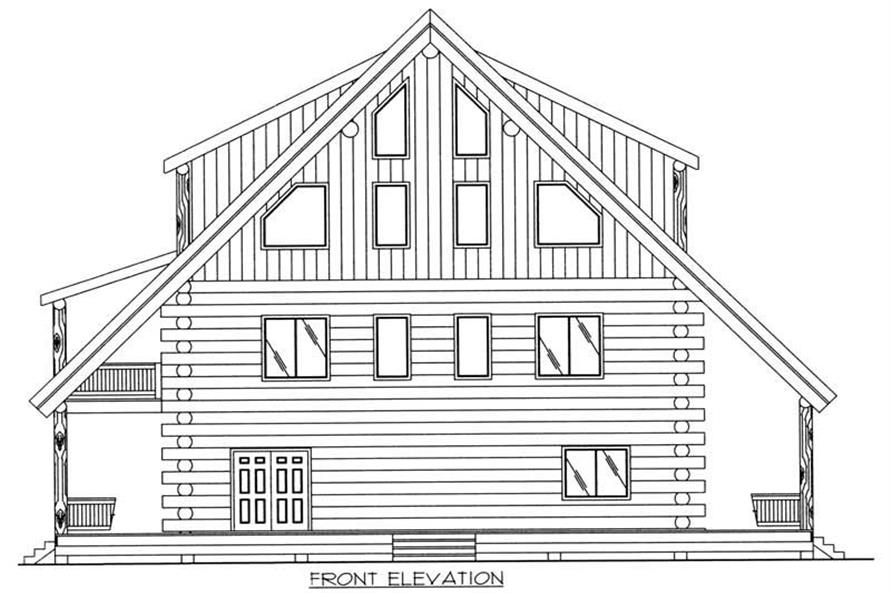 Home Plan Front Elevation of this 2-Bedroom,4200 Sq Ft Plan -132-1511