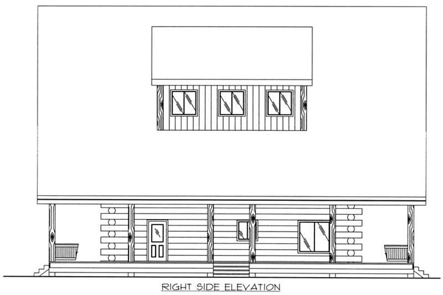 Home Plan Right Elevation of this 2-Bedroom,4200 Sq Ft Plan -132-1511