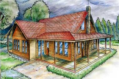 4-Bedroom, 3776 Sq Ft Country Home Plan - 132-1513 - Main Exterior