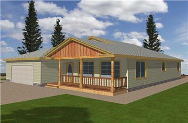 3-Bedroom, 1968 Sq Ft Ranch Home Plan - 132-1515 - Main Exterior