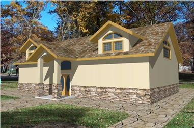 1-Bedroom, 3062 Sq Ft Garage Home Plan - 132-1517 - Main Exterior