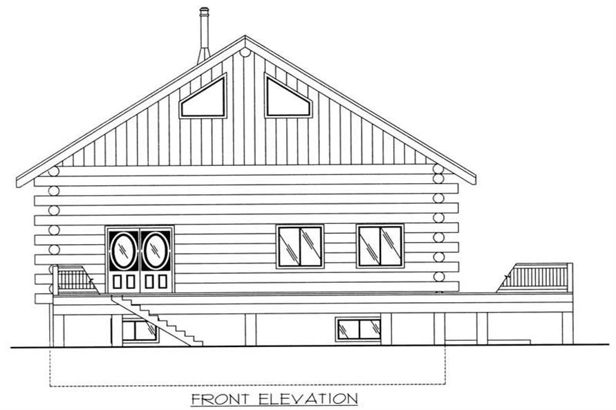 Home Plan Front Elevation of this 2-Bedroom,3489 Sq Ft Plan -132-1519