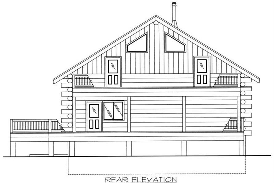 Home Plan Rear Elevation of this 2-Bedroom,3489 Sq Ft Plan -132-1519