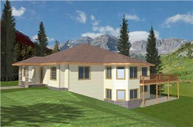 3-Bedroom, 2380 Sq Ft Concrete Block/ ICF Design House Plan - 132-1521 - Front Exterior