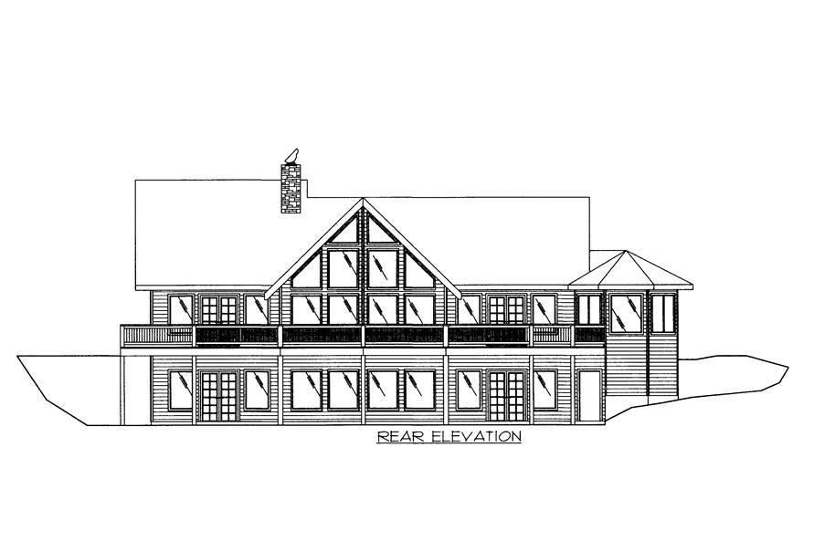 132-1522: Home Plan Rear Elevation