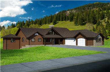3-Bedroom, 4149 Sq Ft Traditional House Plan - 132-1522 - Front Exterior