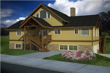 3-Bedroom, 3226 Sq Ft Coastal House Plan - 132-1523 - Front Exterior