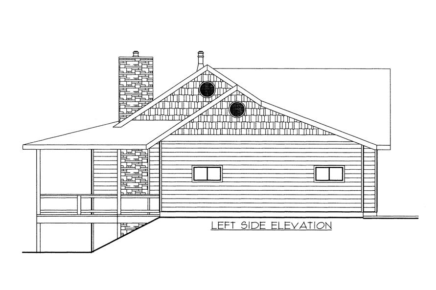 132-1525: Home Plan Left Elevation