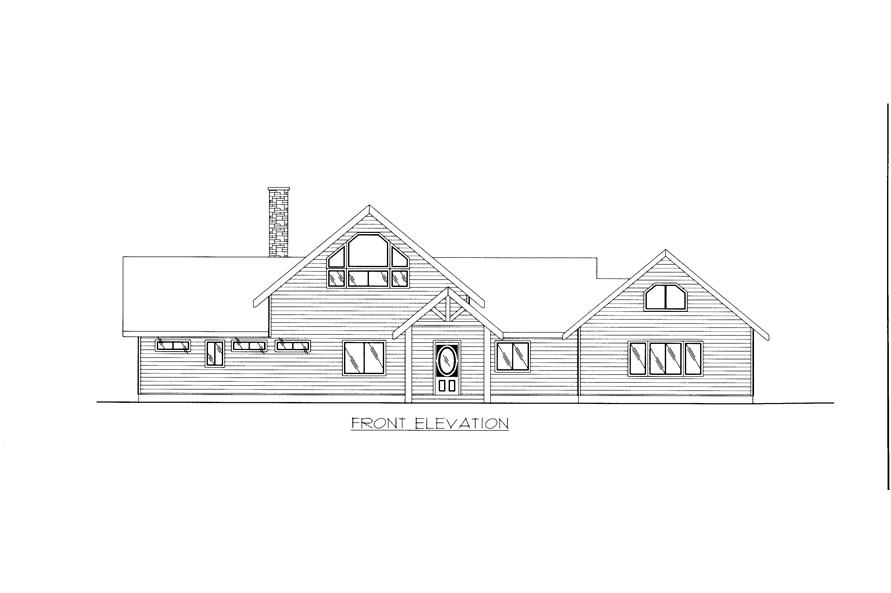 132-1526: Home Plan Front Elevation