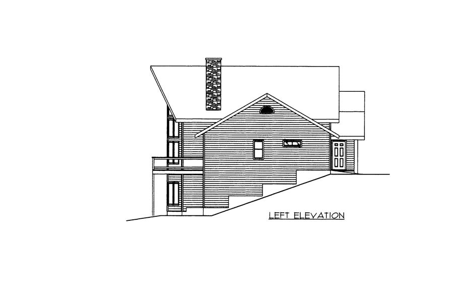 132-1526: Home Plan Left Elevation