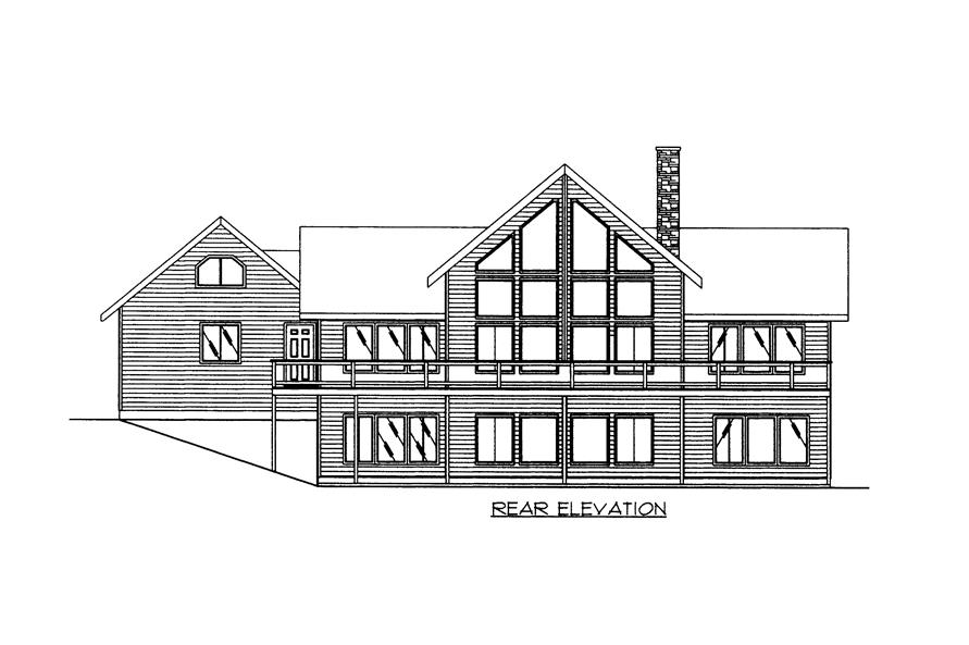 132-1526: Home Plan Rear Elevation