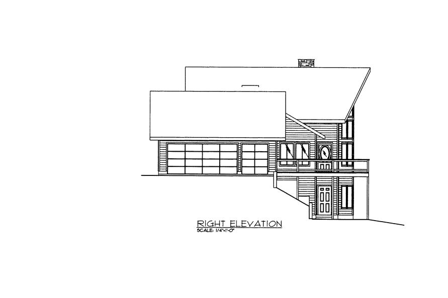 132-1526: Home Plan Right Elevation