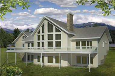 2-Bedroom, 4040 Sq Ft Traditional Home Plan - 132-1526 - Main Exterior