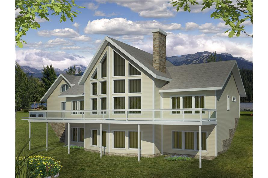 Front elevation of Traditional home (ThePlanCollection: House Plan #132-1526)