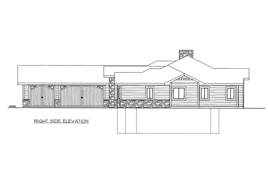 Home Plan Right Elevation of this 2-Bedroom,2039 Sq Ft Plan -132-1527