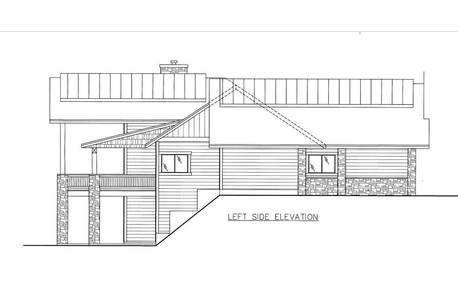 132-1528: Home Plan Left Elevation
