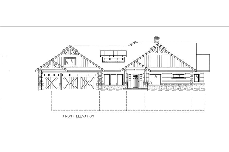 132-1528: Home Plan Front Elevation