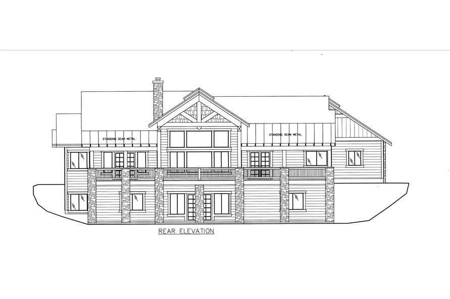 132-1528: Home Plan Rear Elevation