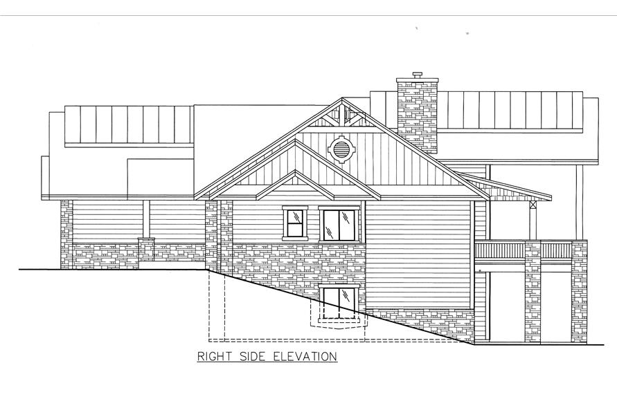 132-1528: Home Plan Right Elevation