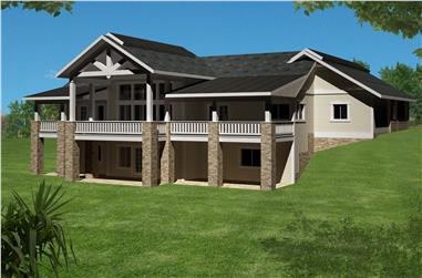 3-Bedroom, 4076 Sq Ft Traditional Home Plan - 132-1528 - Main Exterior