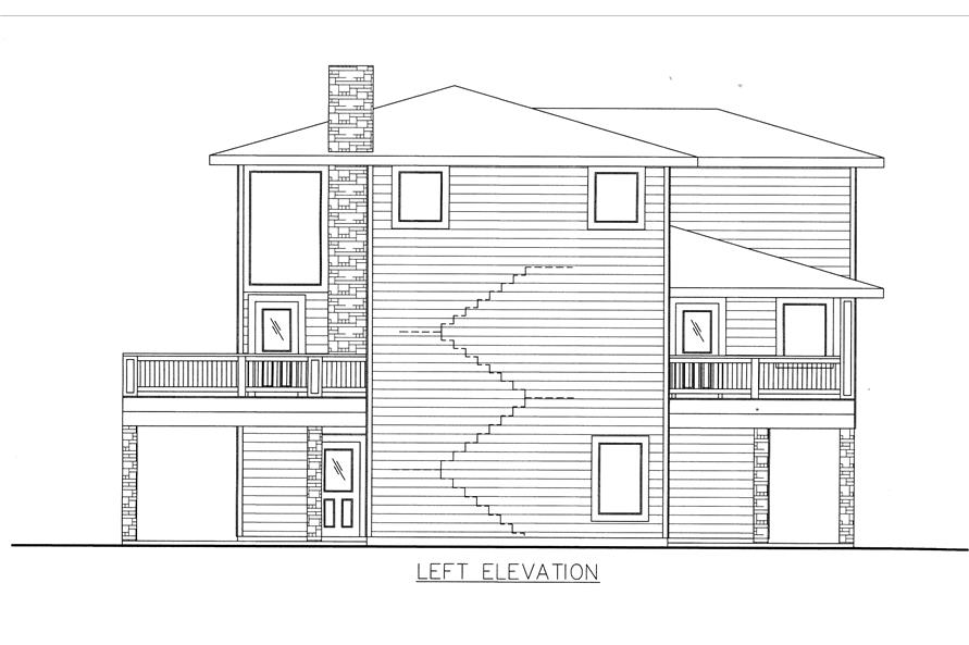 132-1530: Home Plan Left Elevation