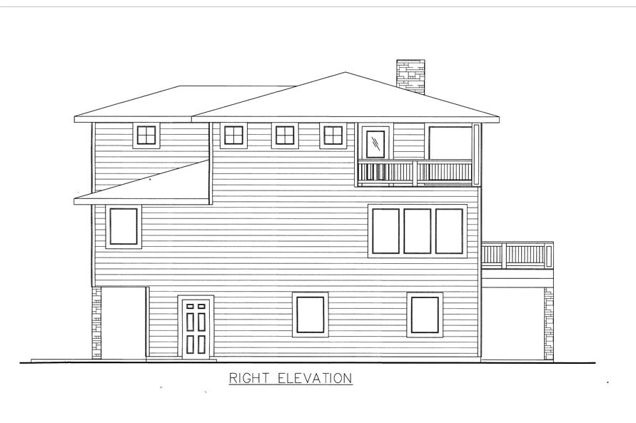 132-1530: Home Plan Right Elevation