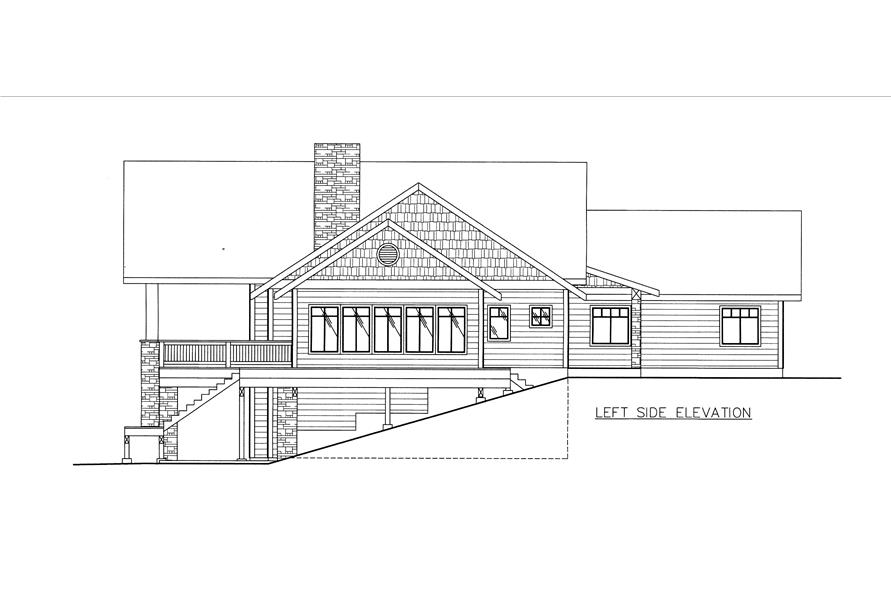 132-1531: Home Plan Left Elevation