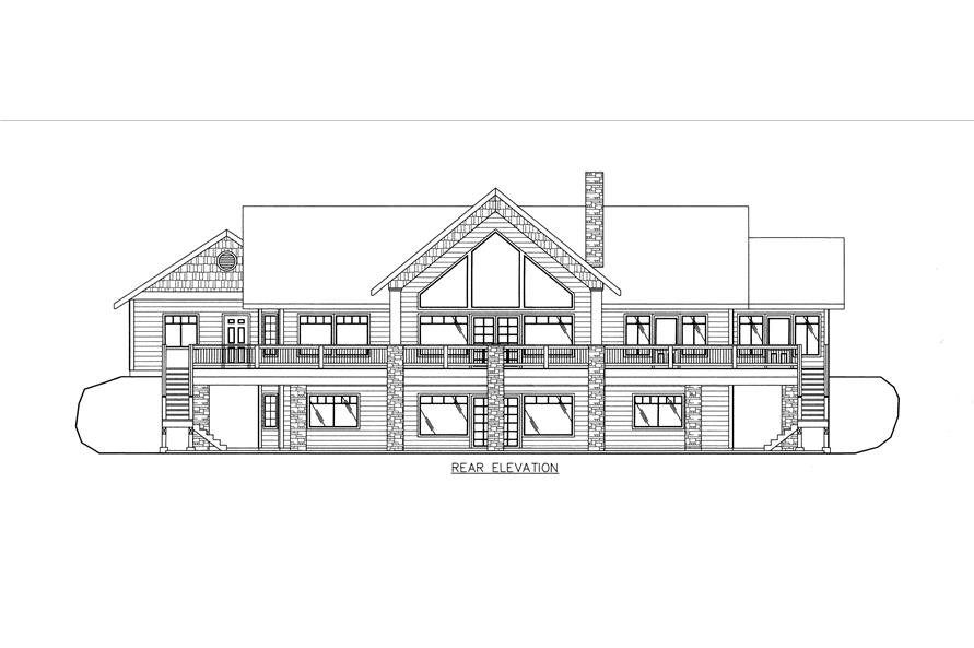 132-1531: Home Plan Rear Elevation