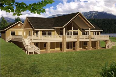 5-Bedroom, 4006 Sq Ft Traditional Home Plan - 132-1531 - Main Exterior