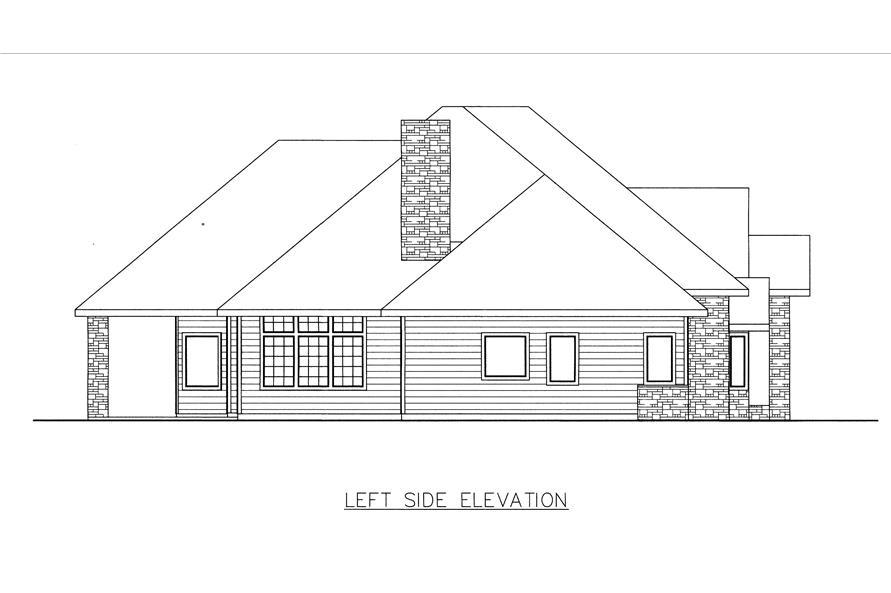 132-1534: Home Plan Left Elevation