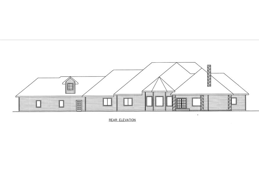 132-1534: Home Plan Rear Elevation