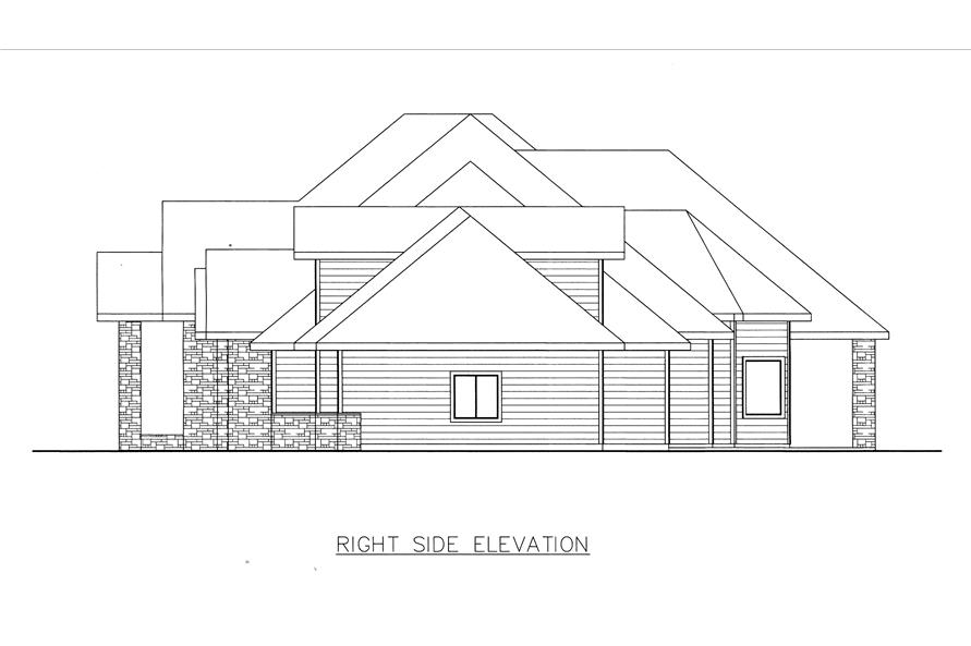 132-1534: Home Plan Right Elevation